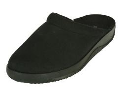 Rohde-Pantoffel/Huisschoen-Zwart pantoffel slipper1