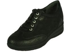Durea-steun- gemakschoenen-dames veterschoen zwart1