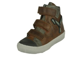 Track style-jongensschoenen-Klitterband bruin1