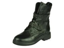 Piedi Nudi-halfhoge schoen-Biker zwart1