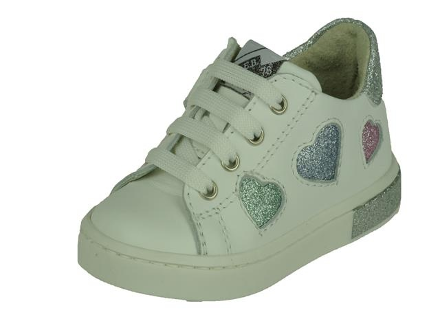 EB Shoes EB Shoes lage witte meisjes veterschoen
