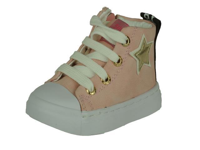 Shoesme Shoeme Halfhoge meisjesschoen met veter en rits