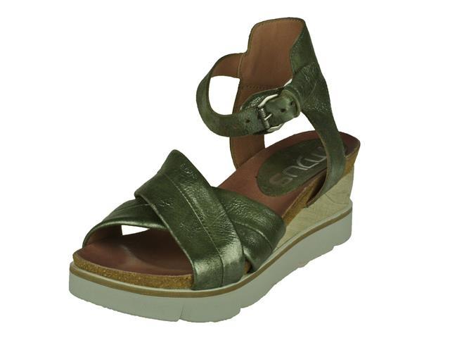 Mjus Mjus trendy stoere sandalet op dikke sleehak. zool