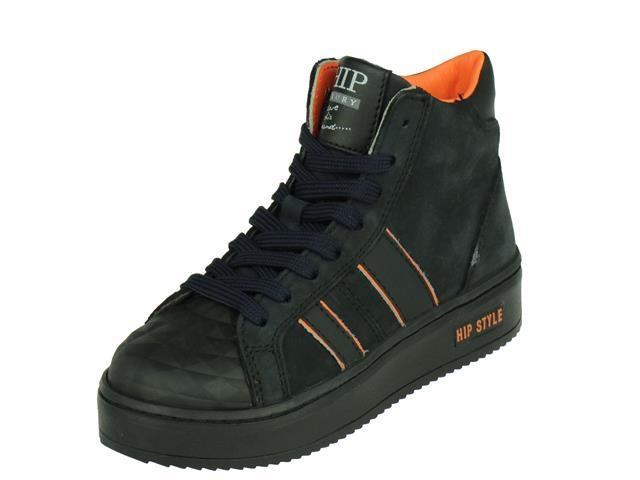 HIP Shoe Style Hip Halfhoge Jongens veterschoen, met rits